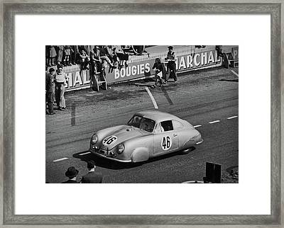 1951 Porsche At Le Mans - Doc Braham - All Rights Reserved Framed Print