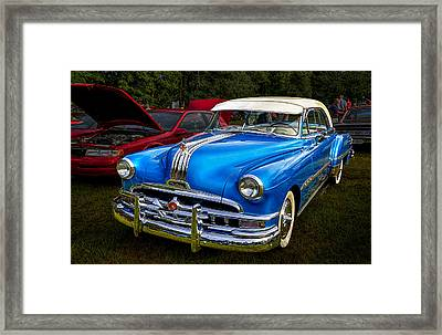 1952 Blue Pontiac Catalina Chiefton Classic Car Framed Print