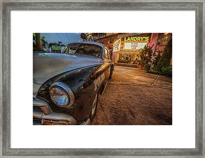 Framed Print featuring the tapestry - textile 1952 Chevy  by Kathy Adams Clark