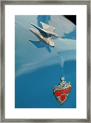 1952 Crosley Super Woody Wagon Hood Ornament Framed Print by Jill Reger