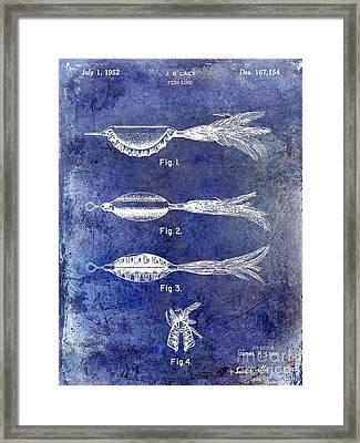 1952 Fishing Lure Patent Blue Framed Print