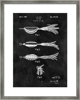1952 Fishing Lure Patent Framed Print by Dan Sproul