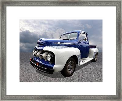 1952 Ford F-1 In Blue And White Framed Print