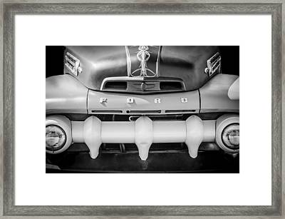 1952 Ford F-1 Truck Grille -0242bw Framed Print by Jill Reger