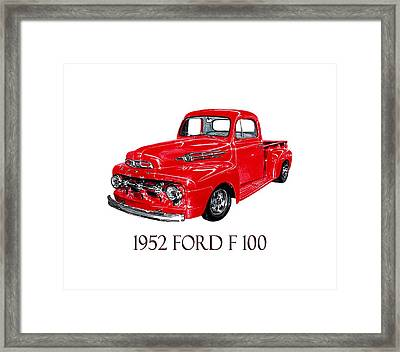 Big Red 1952 Ford F-100 Pick Up Framed Print by Jack Pumphrey