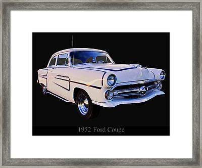 1952 Ford Mainline Coupe Framed Print by Chris Flees