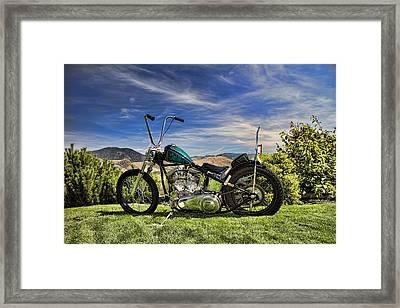 1951 Harley Davidson Motorcycle Chopper Framed Print by David Smith