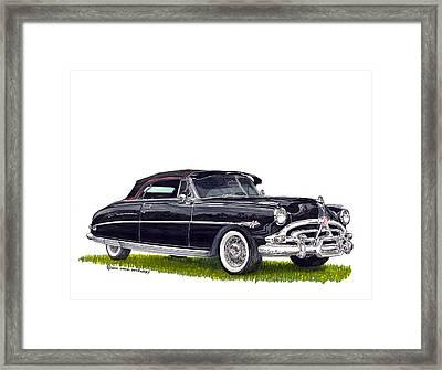 1952 Hudson Hornet Convertible Framed Print by Jack Pumphrey