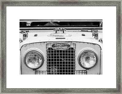 1952 Land Rover 80 Grille -0988bw Framed Print by Jill Reger