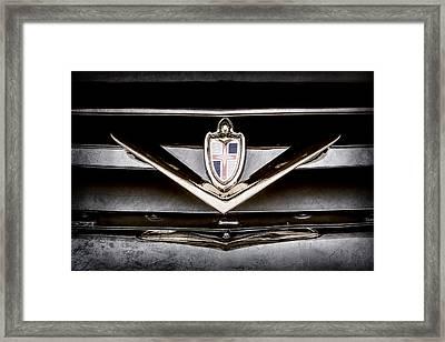 1952 Lincoln Derham Town Car Grille Emblem -0427ac Framed Print by Jill Reger