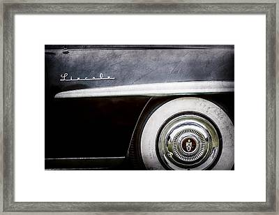 1952 Lincoln Derham Town Wheel Emblem -0416ac Framed Print by Jill Reger