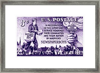 1952 Newspaper Boys Stamp Framed Print