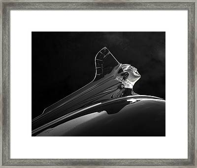1952 Pontiac Catalina Chieftan Lighted Hood Ornament 3 Framed Print