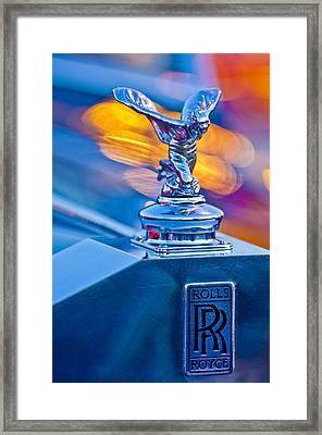 1952 Rolls-royce Silver Wraith Hood Ornament Framed Print by Jill Reger