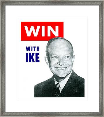 1952 Win With Ike Framed Print by Historic Image