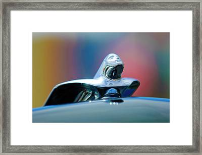 1953 Cadillac Hood Ornament Framed Print by Jill Reger