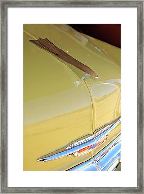 1953 Chevrolet Bel Air Hood Ornament Framed Print by Jill Reger