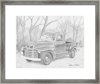 1953 Chevrolet Pickup Truck Art Print Framed Print by Stephen Rooks