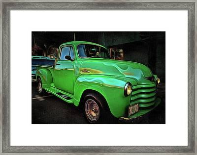1953 Chevy 3100 Pickup Framed Print by Thom Zehrfeld