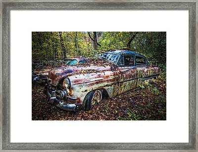 1953 Chevy Framed Print by Debra and Dave Vanderlaan