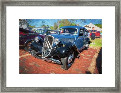 Framed Print featuring the photograph 1953 Citroen Traction Avant by Rich Franco