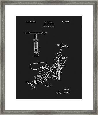 1953 Exercise Apparatus Patent Framed Print by Dan Sproul