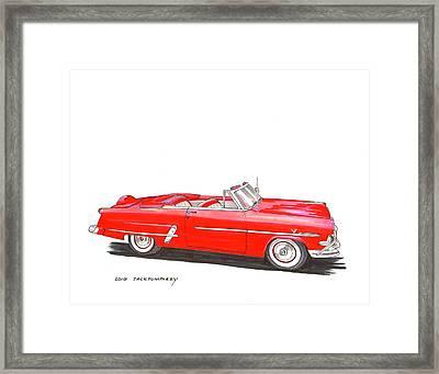 1953 Ford Crestline Sunliner Convertible Framed Print by Jack Pumphrey