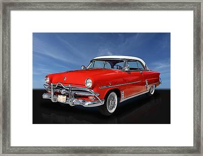 1953 Ford Crestline V8 Framed Print by Frank J Benz