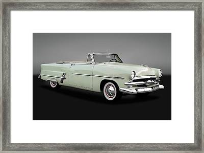 1953 Ford Customline Sunliner 2 Door Convertible  -   1953fordcustomsunlinergry170651 Framed Print by Frank J Benz
