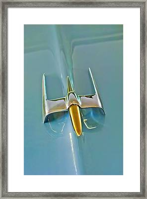 1953 Lincoln Capri Hood Ornament Framed Print by Jill Reger