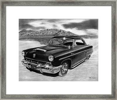 1953 Mercury Monterey On Bonneville Framed Print by Peter Piatt