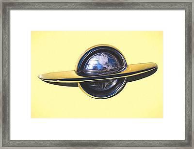 1953 Oldsmobile Emblem Painterly Expressions Framed Print