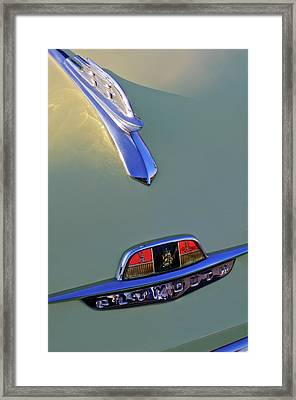 1953 Plymouth Hood Ornament Framed Print by Jill Reger