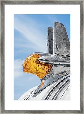 1953 Pontiac Hood Ornament Framed Print by Jim Hughes