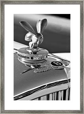 1954 Bentley One Of A Kind Hood Ornament 2 Framed Print by Jill Reger