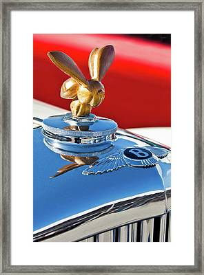 1954 Bentley One Of A Kind Hood Ornament Framed Print by Jill Reger