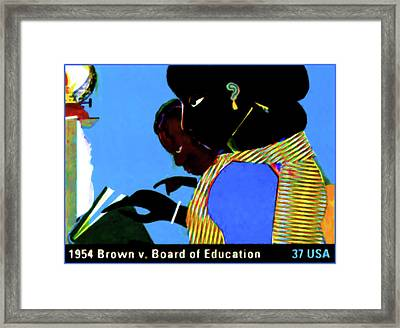 1954 Brown Vs Board Of Education Framed Print by Lanjee Chee