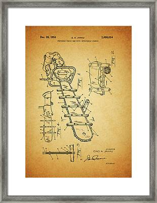 1954 Chainsaw Patent Framed Print by Dan Sproul