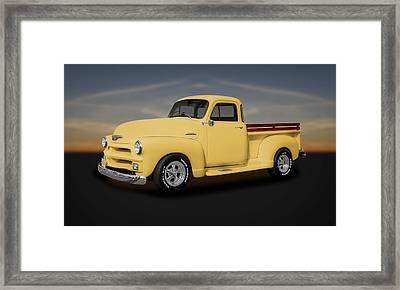 1954 Chevrolet 3100 Series Pickup Truck  -  54chtk544 Framed Print