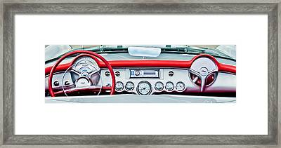 1954 Chevrolet Corvette Dashboard Framed Print by Jill Reger