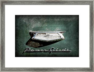 1954 Chevrolet Power Glide Emblem -0156ac Framed Print