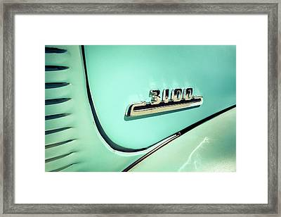 1954 Chevy 3100 Pick-up Framed Print