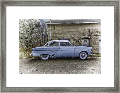 1954 Ford Crestline _ Hdr Framed Print by Michael Rankin
