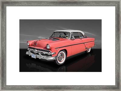 1954 Ford Crestline V8 Framed Print by Frank J Benz
