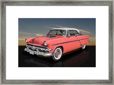 1954 Ford Crestline V8 With See-through Hood Framed Print by Frank J Benz