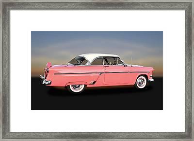 1954 Ford Victoria Crestline V8  -  54fordvic9358 Framed Print by Frank J Benz
