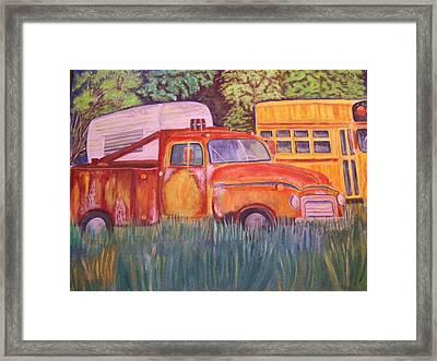 1954 Gmc Wrecker Truck Framed Print by Belinda Lawson