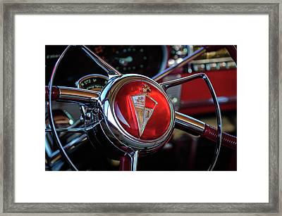 1954 Hudson Steering Wheel Framed Print by Jill Reger