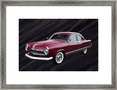 1954 Kaiser Special Digital Oil Framed Print
