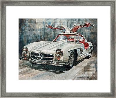 1954 Mercedes Benz 300 Sl Gullwing Framed Print